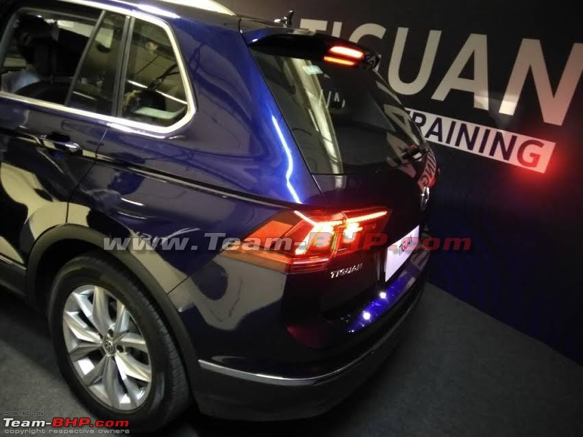 VW Tiguan at dealer training
