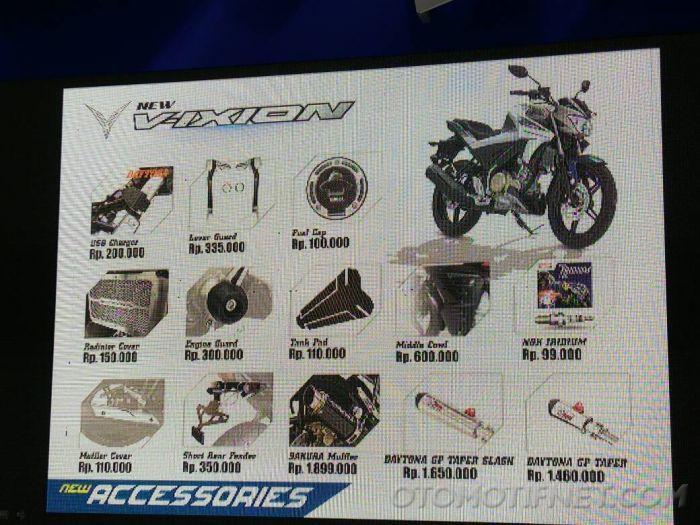 Yamaha V-Ixion accessory list