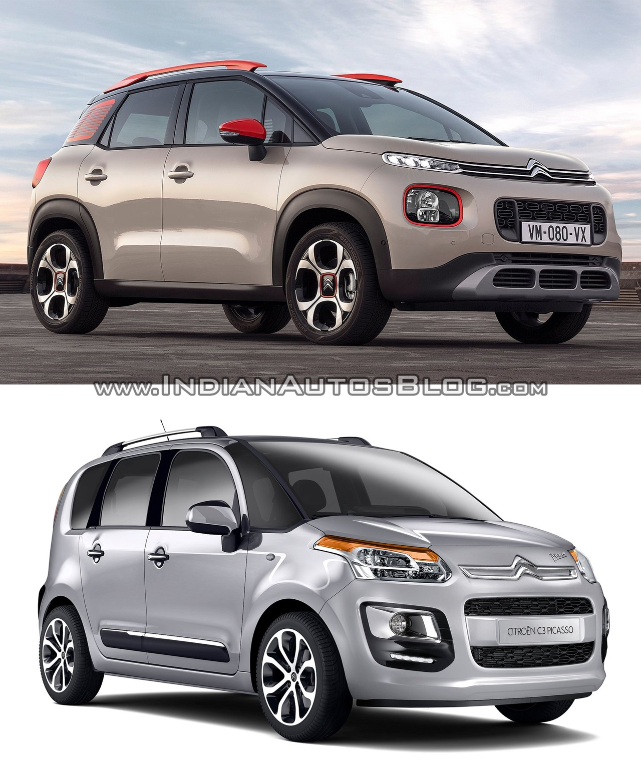 citroen c3 aircross vs citroen c3 picasso old vs new. Black Bedroom Furniture Sets. Home Design Ideas