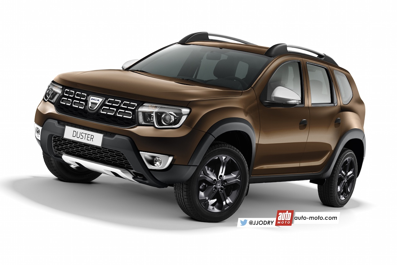 next gen dacia duster renault duster rendered with new info. Black Bedroom Furniture Sets. Home Design Ideas