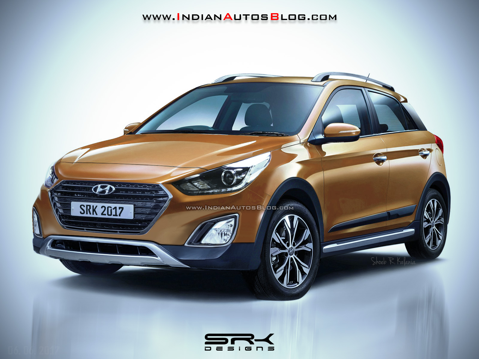 High Quality 2017 Hyundai I20 Active (facelift) Front Quarter Rendering