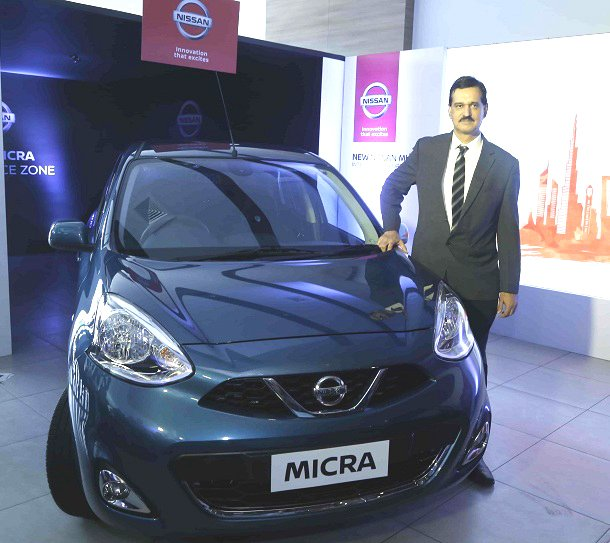 2017 Nissan Micra (facelift) front launched India