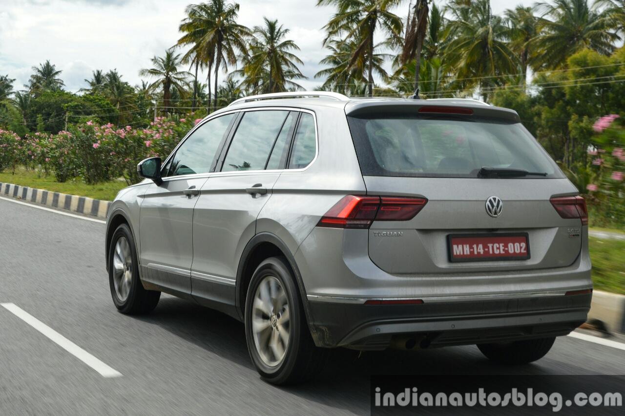 2017 VW Tiguan rear quarter road First Drive Review