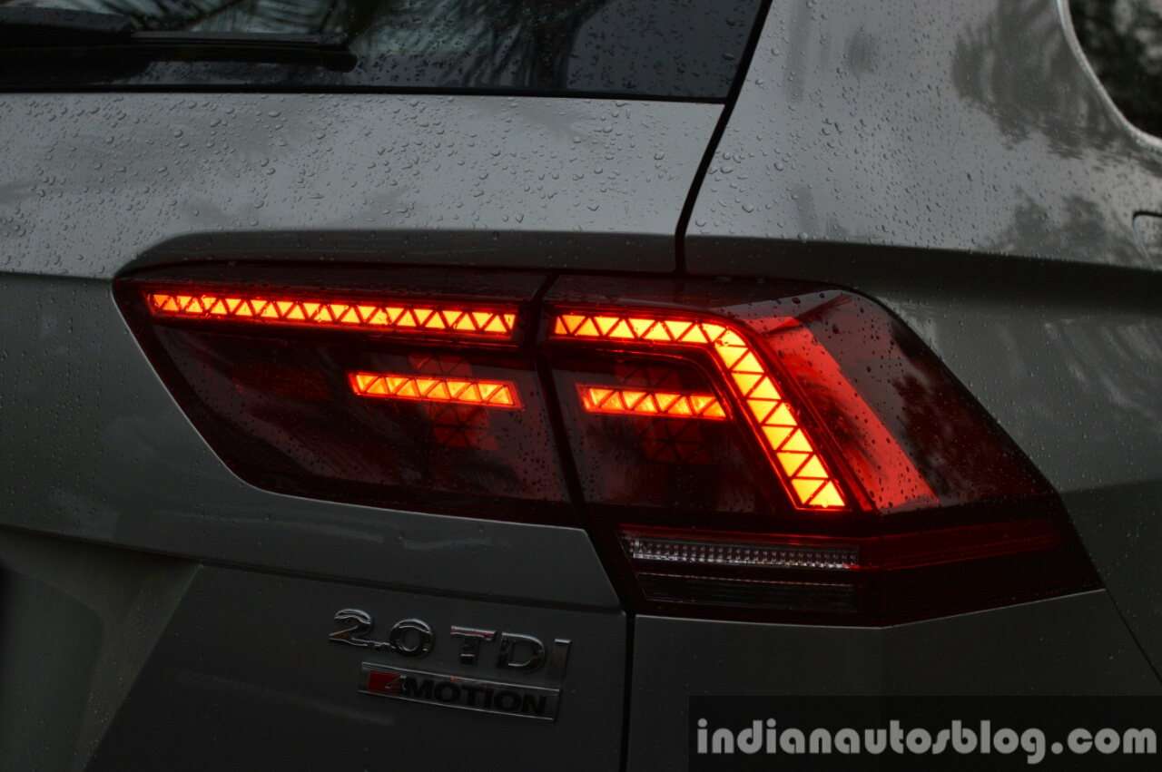 2017 VW Tiguan taillight glow First Drive Review