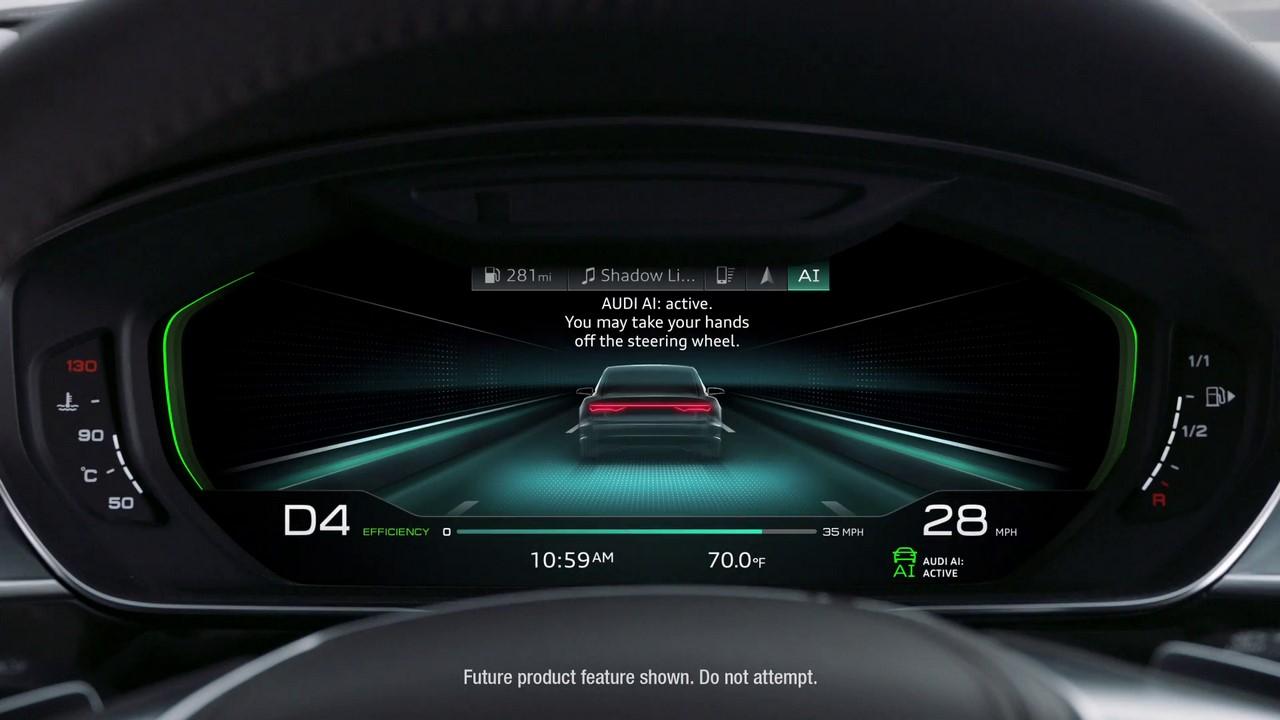2018 Audi A8 Instrument Cluster Audi Ai Autonomous Drive Mode