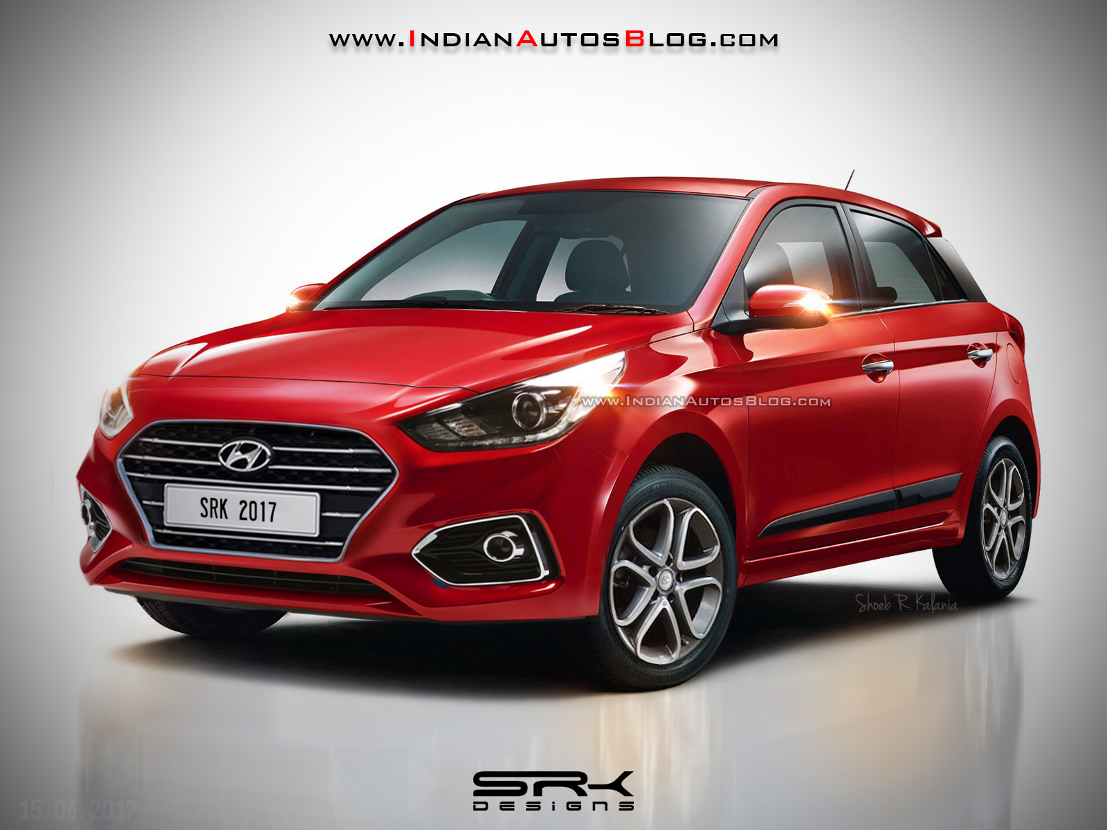 2018 Hyundai i20 (facelift) rendered with new colours ...