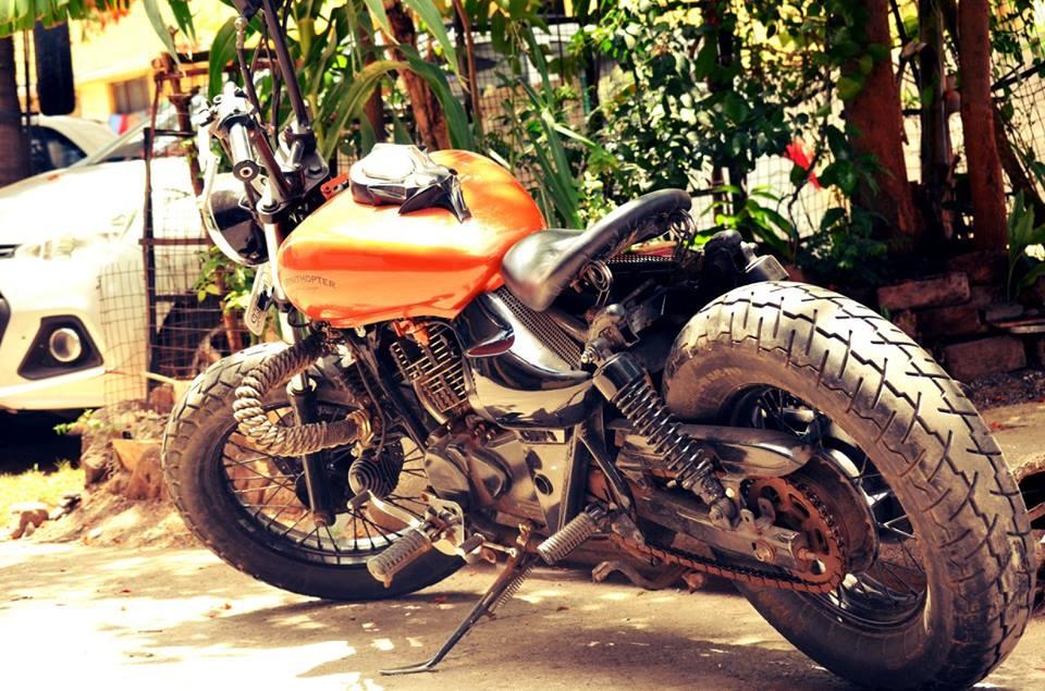 Bajaj Avenger 220 Bobber by Ornithopter Moto House rear three quarter left