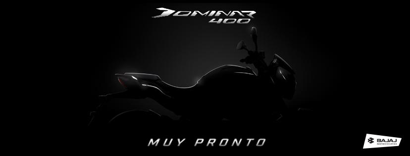 Bajaj Dominar 400 teaser image Mexico