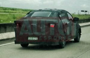 Fiat X6S camouflaged test prototype rear Brazil spied