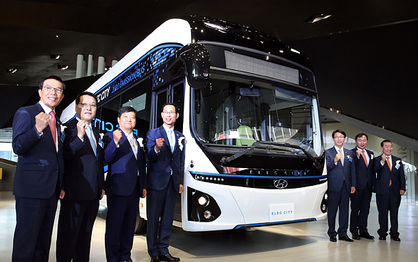 Hyundai Motor unveils all electric commercial bus in Korea