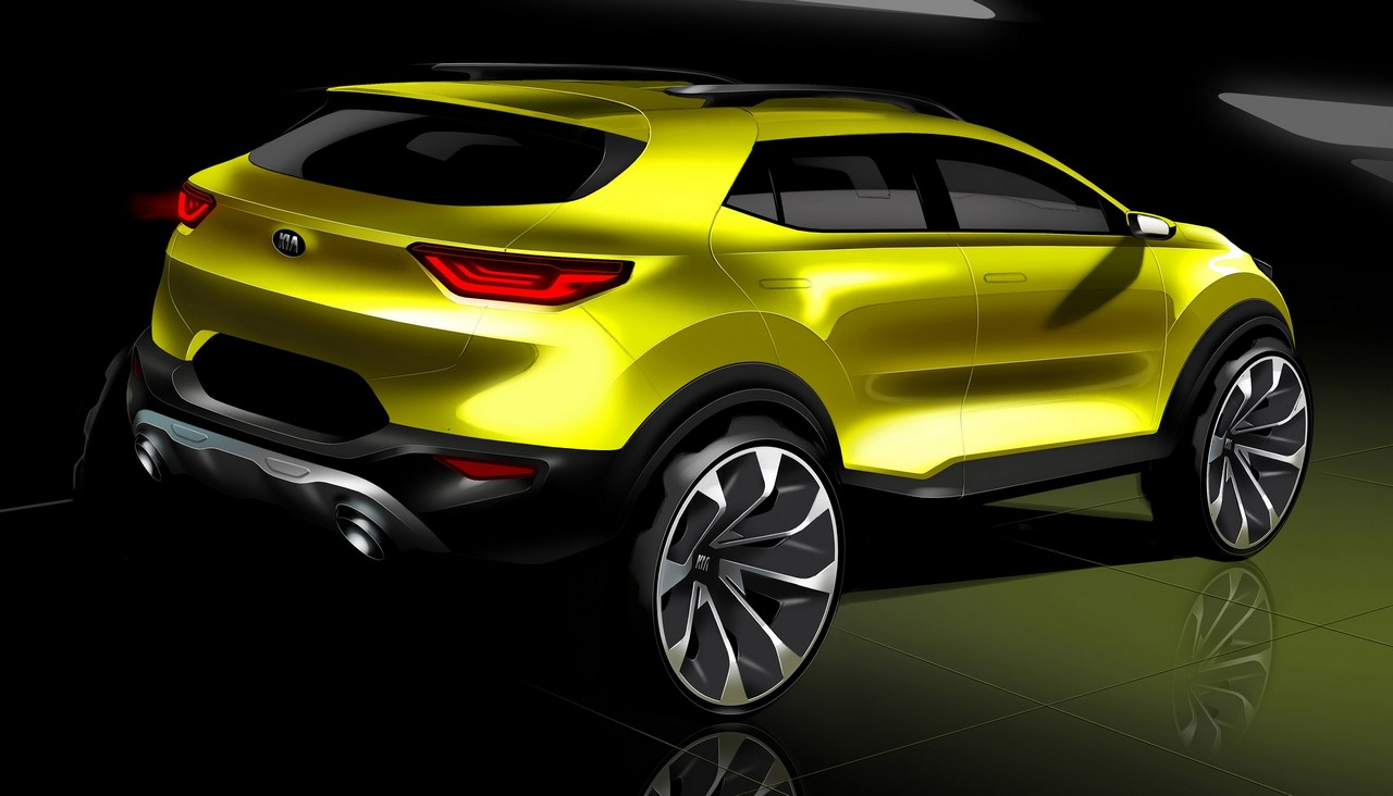 Kia Stonic rear three quarters sketch