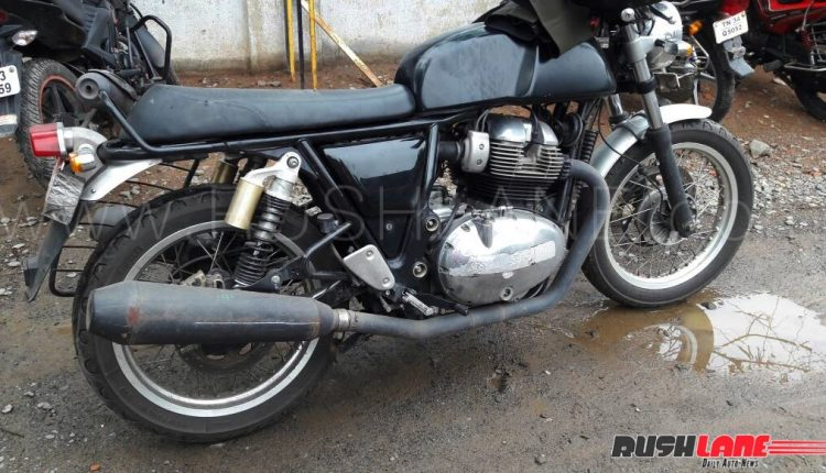 royal enfield continental gt 750 latest spy shot side and rear three quarter. Black Bedroom Furniture Sets. Home Design Ideas