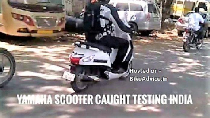 Yamaha new scooter spy shot rear