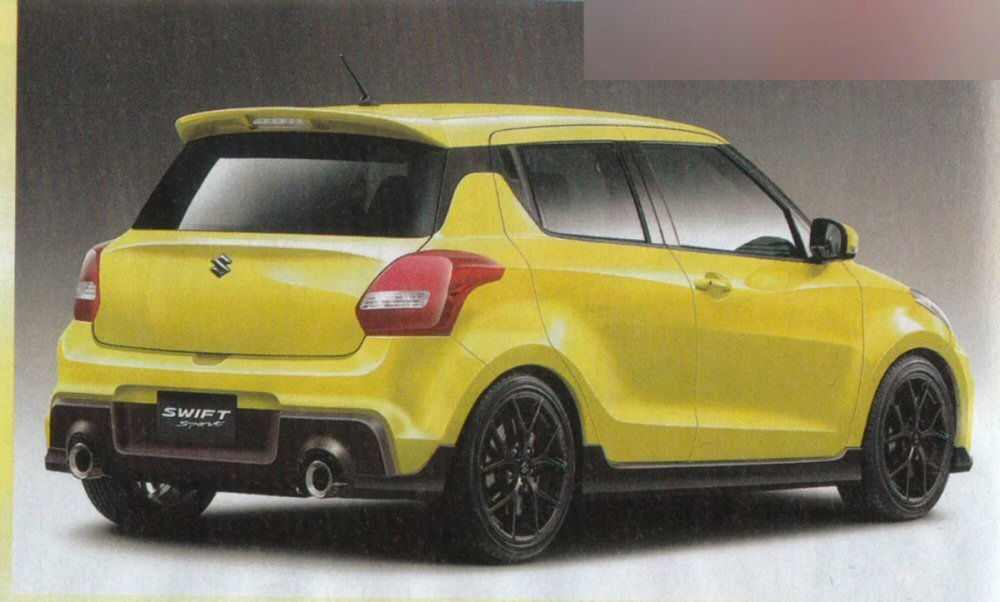 2017 suzuki swift sport front rear render. Black Bedroom Furniture Sets. Home Design Ideas