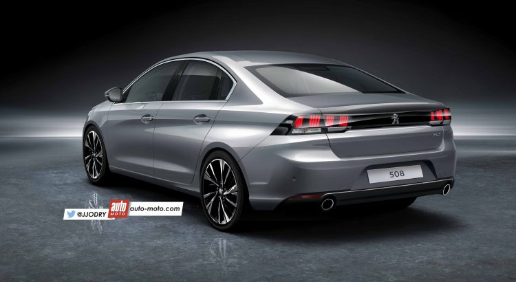 2018 Peugeot 508 rear three quarters left side rendering