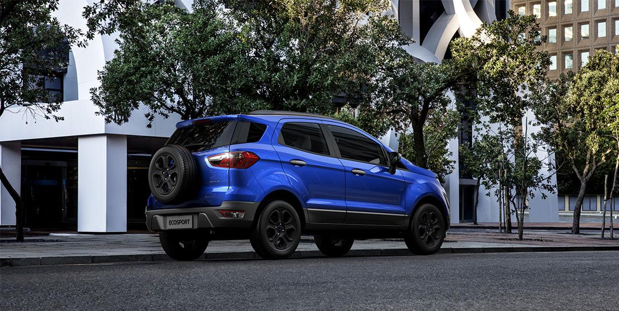 Brazilian-spec 2018 Ford EcoSport (facelift) rear three quarters