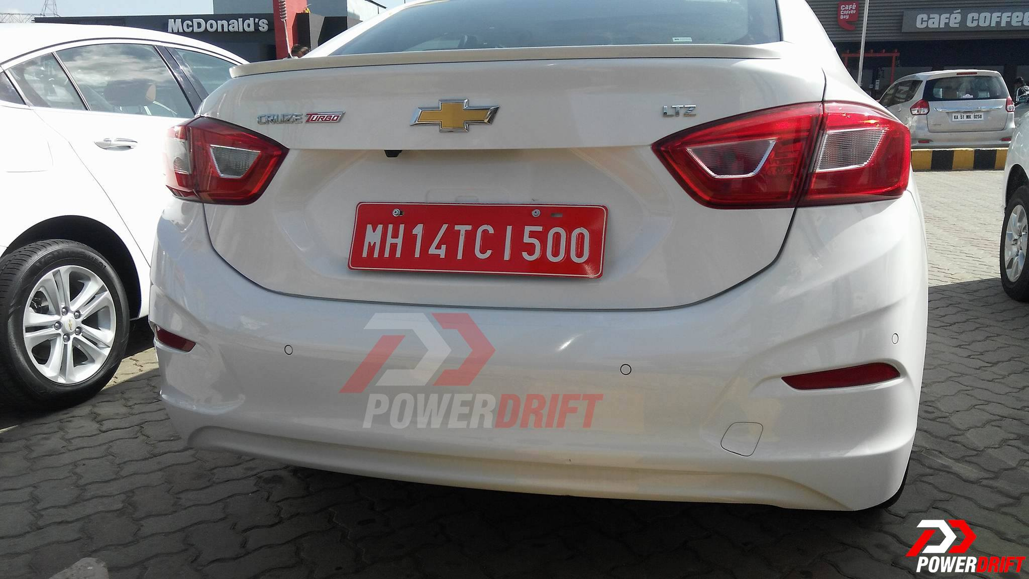 Chevrolet Cruze Spotted in India Rear