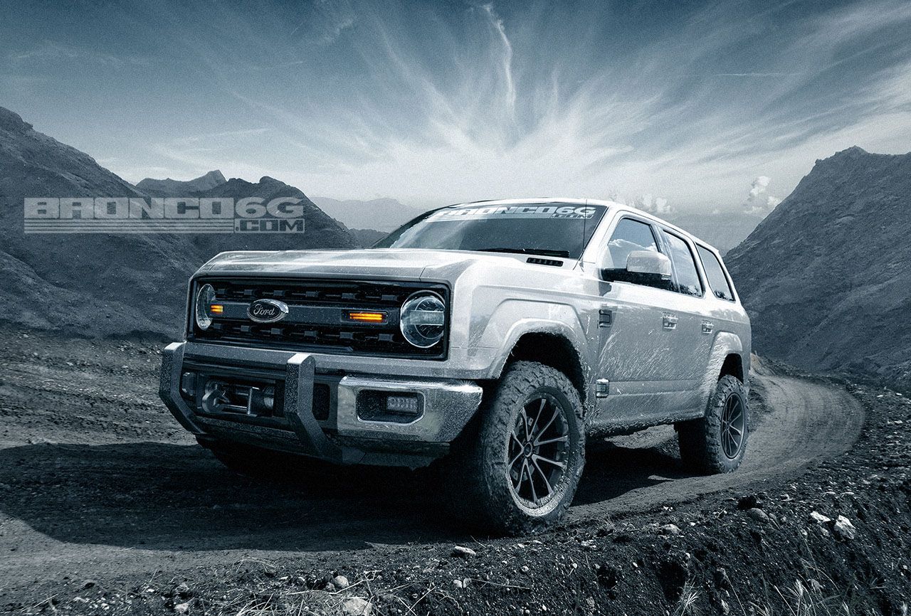 Ford Bronco 4-door front three quarters rendering