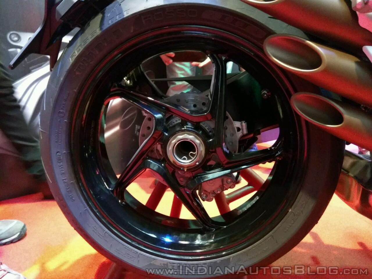 MV Agusta Brutale 800 India launch rear wheel