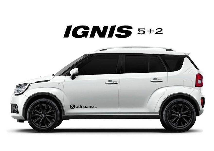 Maruti Ignis 3 row version render