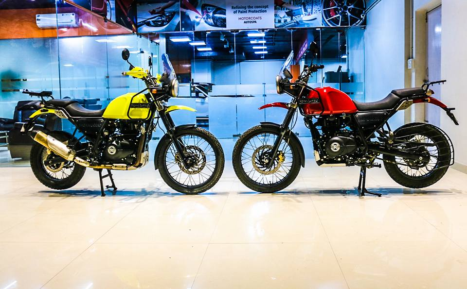 Royal Enfield Himalayan candy colours cover