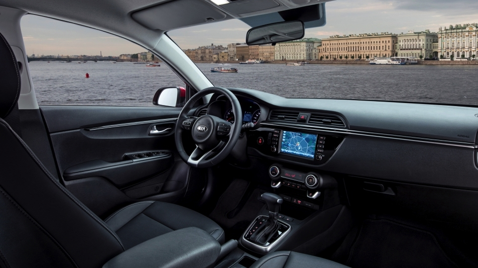 Russian-spec 2017 Kia Rio sedan interior
