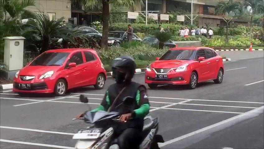 Suzuki Baleno Spotted in Indonesia Front Three Quarters