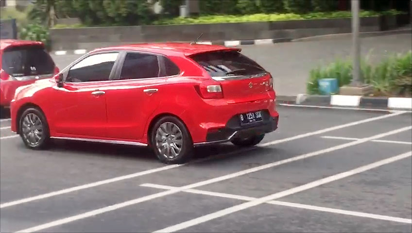Suzuki Baleno Spotted in Indonesia Side Rear