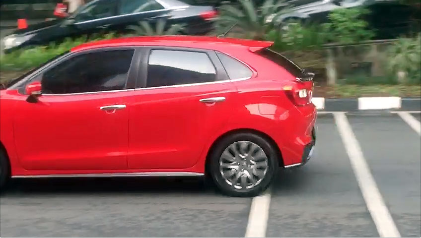 Suzuki Baleno Spotted in Indonesia Side Tail Section