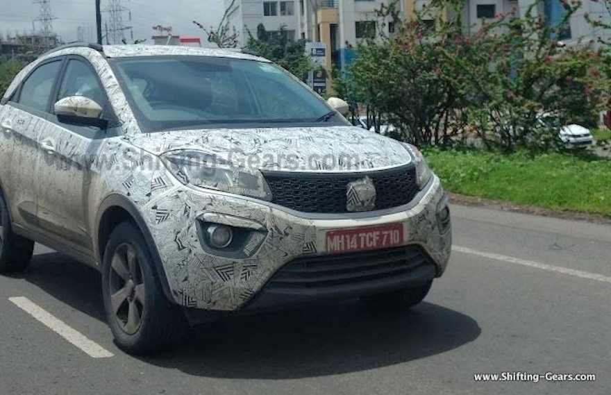 Tata Nexon Red spotted on test before launch