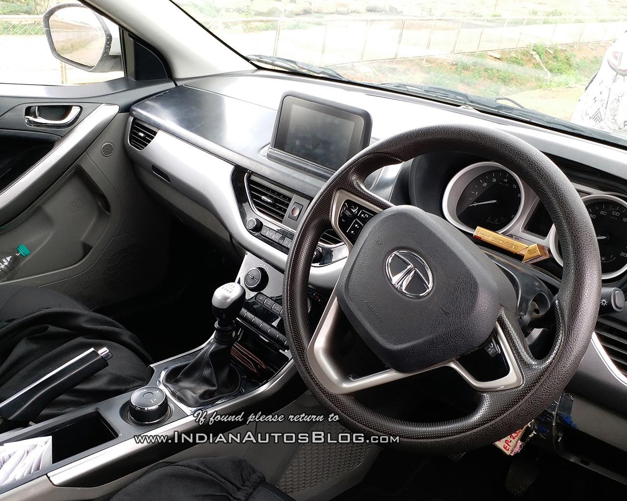 Tata Nexon interior Karnataka spy shot