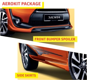 Toyota Sienta aero kit parts