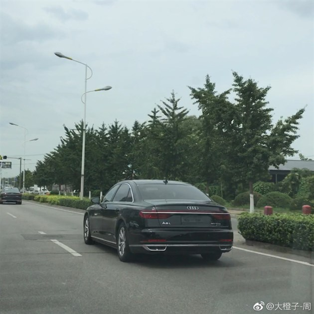2018 Audi A8 L Spied in China rear