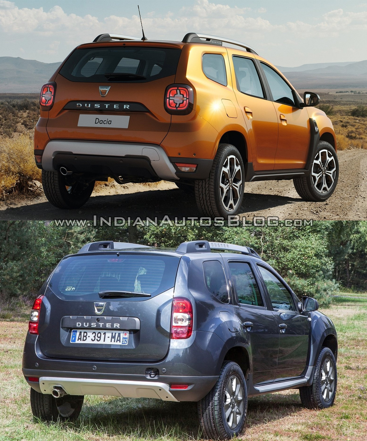 2018 dacia duster vs 2014 dacia duster rear three. Black Bedroom Furniture Sets. Home Design Ideas