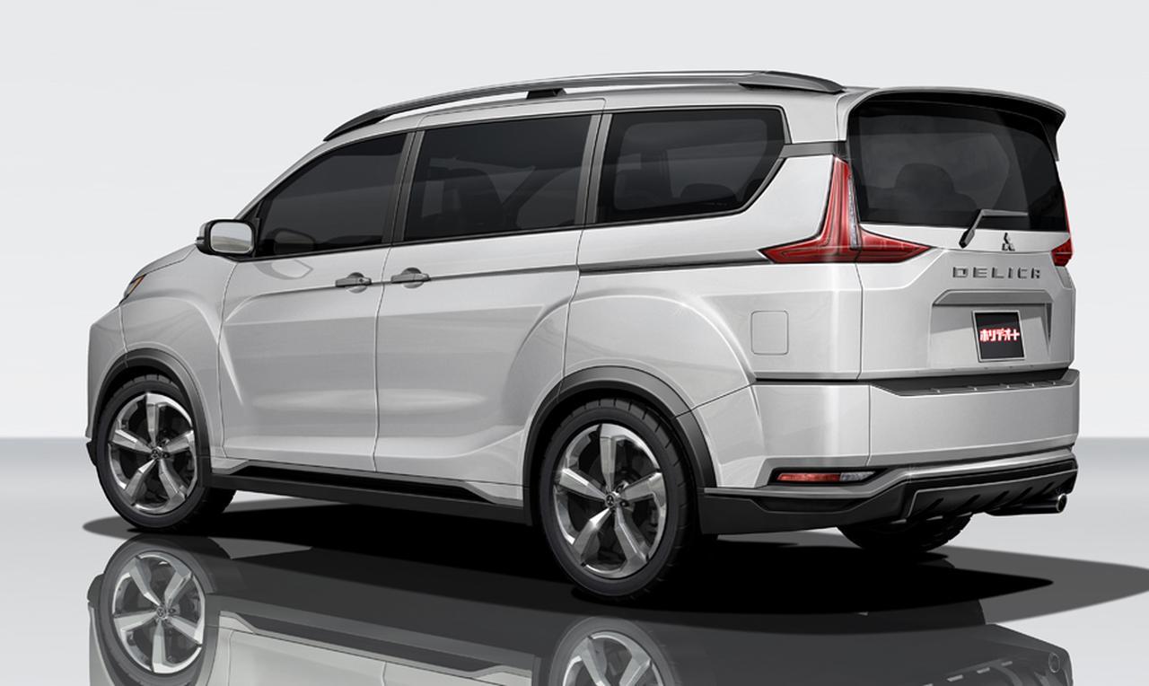 2018 Mitsubishi Delica (Next-gen Mitsubishi Delica) rear three quarters rendering