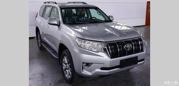 2018 Toyota Land Cruiser Prado (facelift) front three quarters right side spy shot