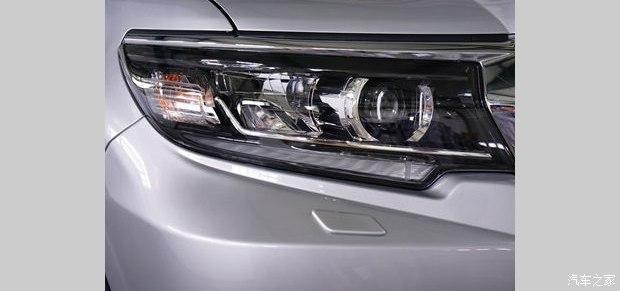 2018 Toyota Land Cruiser Prado (facelift) headlamp spy shot