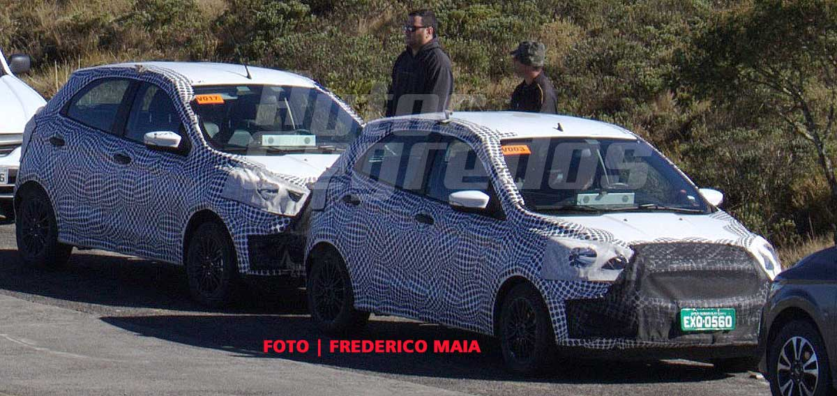 Ford Figo Facelift Spied In Brazil Right Front Three Quarters