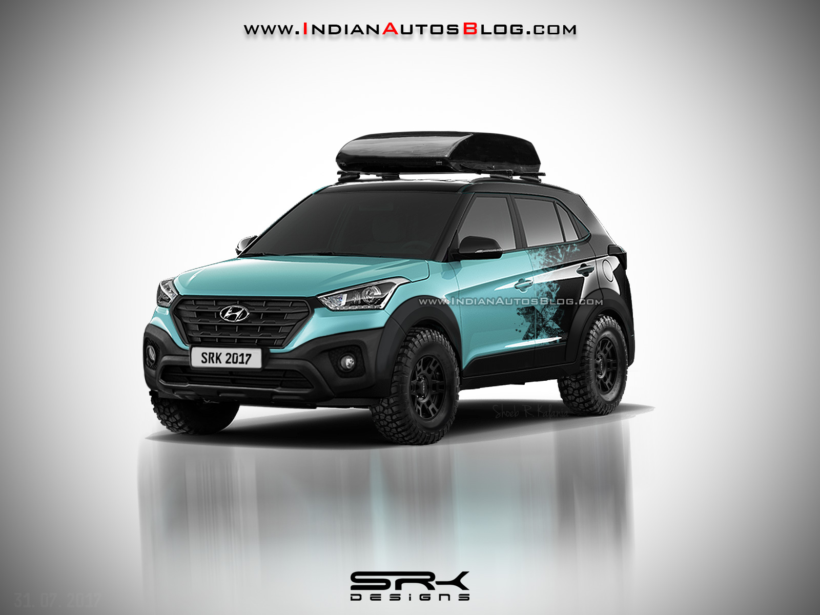 Hyundai Creta X front three quarters rendering