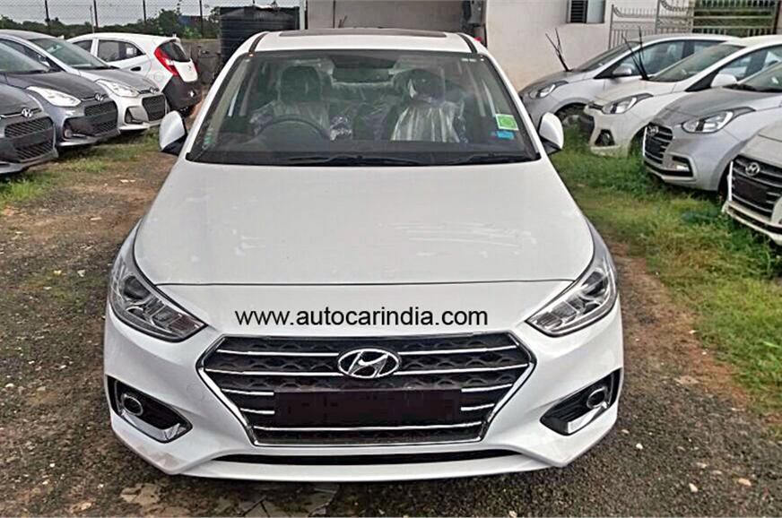 Hyundai Verna 2017 In Polar White Body Colour Ahead Of