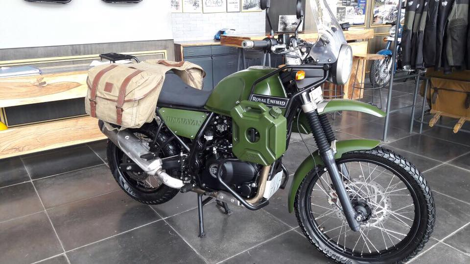 Custom Royal Enfield Himalayan Green Spotted At Dealership