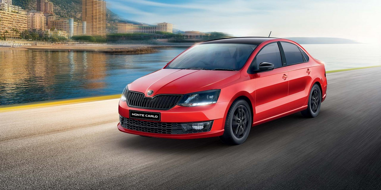 Skoda (Rapid) Monte Carlo front three quarters