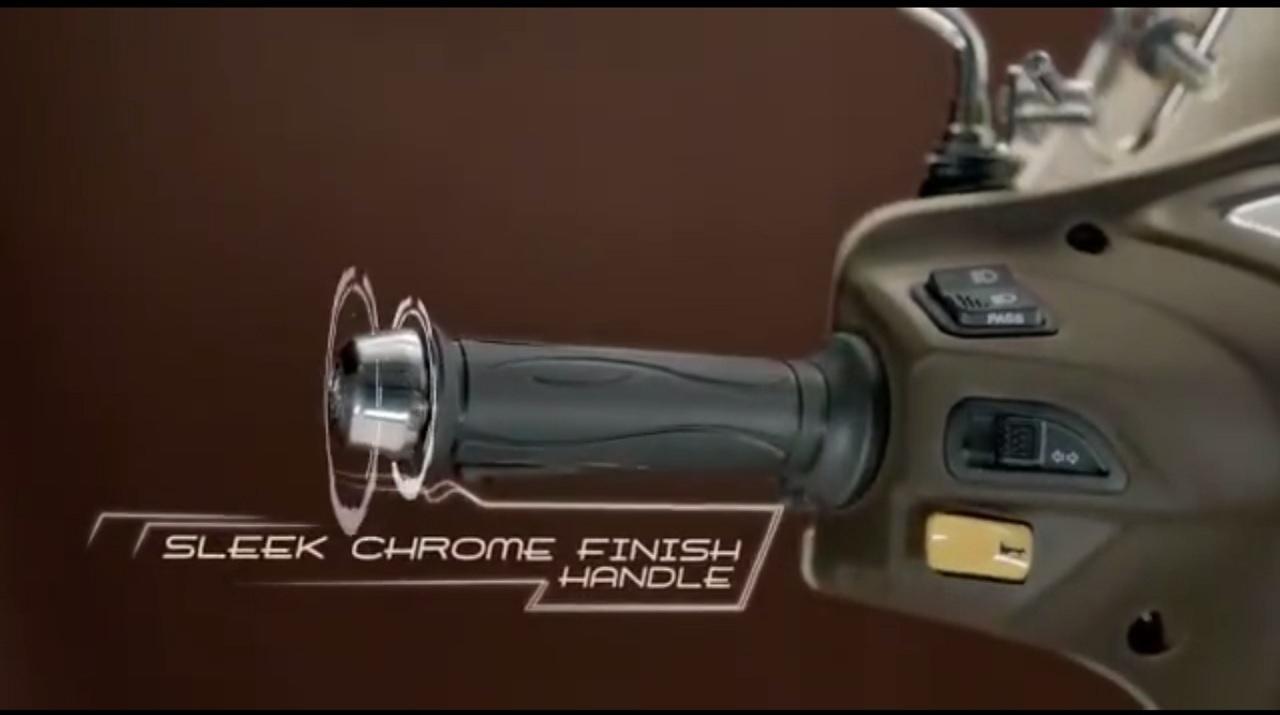 TVS Jupiter Classic Edition TVC classic edition chrome finish handle