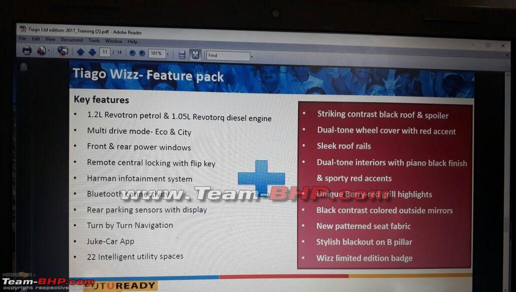 Tata Tiago Wizz feature list leaked image