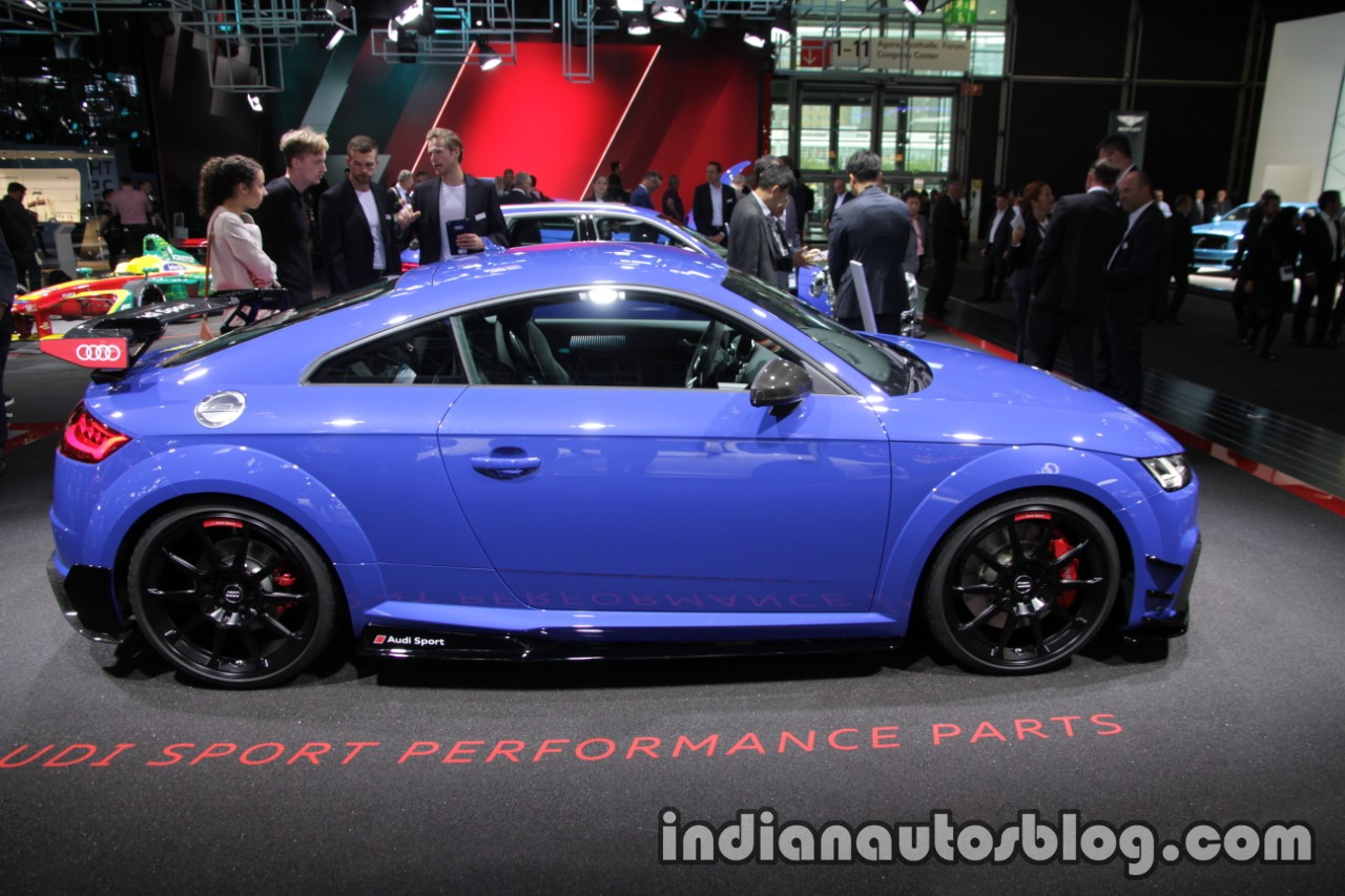 Audi TT RS With Audi Sport Performance Parts Side At The IAA - Audi performance parts