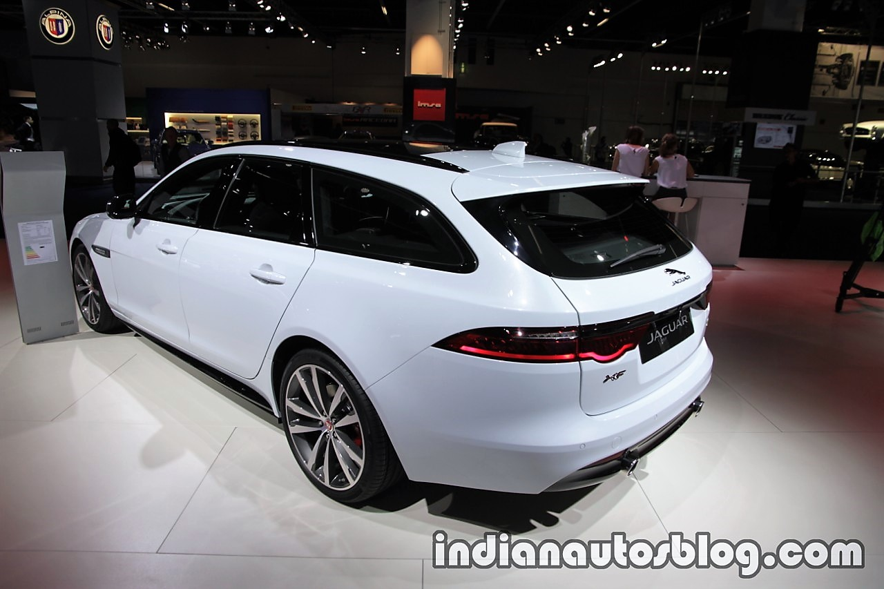 2017 Jaguar XF Sportbrake rear three quarters left side at the IAA 2017