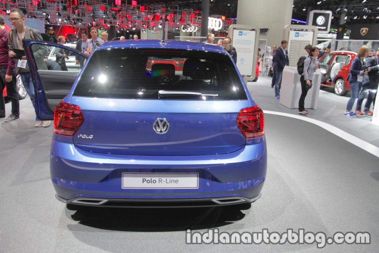 2017 VW Polo R-Line rear at IAA 2017