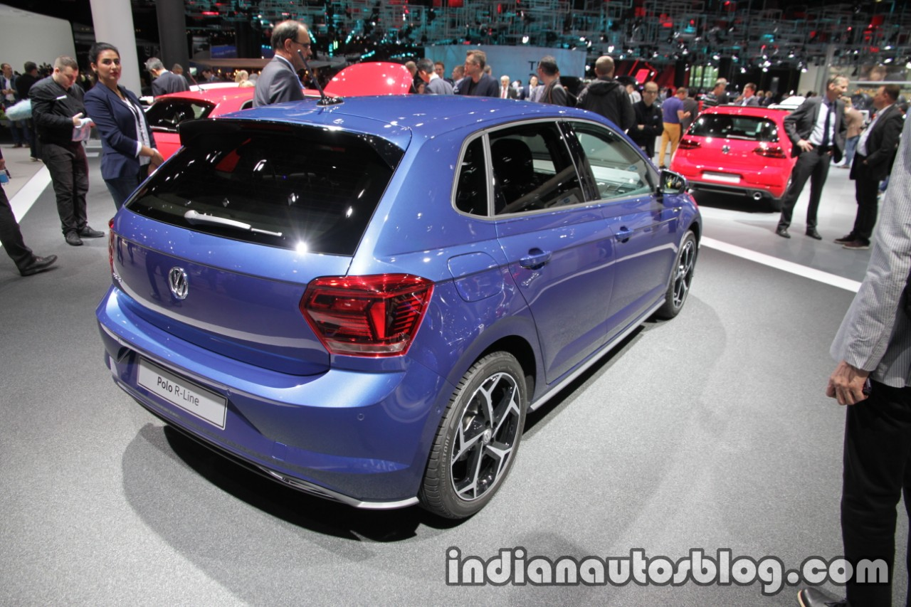 2017 vw polo r line rear three quarters at iaa 2017. Black Bedroom Furniture Sets. Home Design Ideas