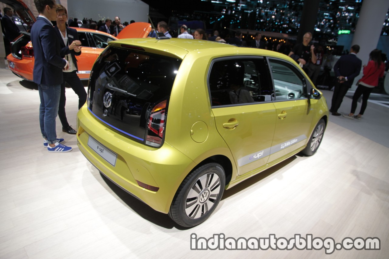 2017 VW e-up! rear three quarters at the IAA 2017