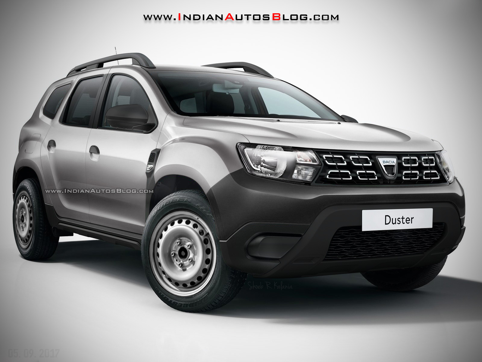 2018 dacia duster 2018 renault duster base model rendering. Black Bedroom Furniture Sets. Home Design Ideas
